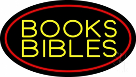 Yellow Books Bibles LED Neon Sign