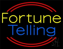 Yellow Fortune Blue Telling LED Neon Sign