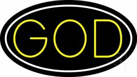Yellow God LED Neon Sign