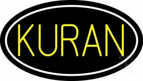 Yellow Kuran With Border LED Neon Sign