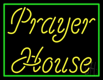 Yellow Prayer House LED Neon Sign