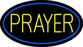 Yellow Prayer LED Neon Sign