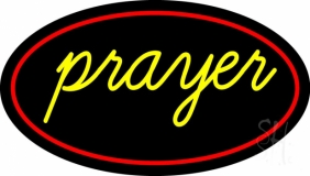 Yellow Prayer With Border LED Neon Sign