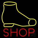 Yellow Shoe Red Shop LED Neon Sign