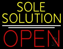 Yellow Sole Solution Open LED Neon Sign