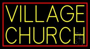 Yellow Village Church LED Neon Sign