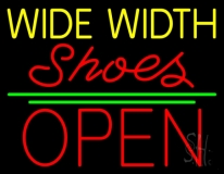 Yellow Wide Width Red Shoes Open LED Neon Sign
