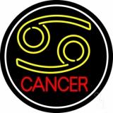 Zodiac Cancer White Border LED Neon Sign