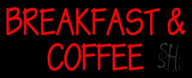 Breakfast And Coffee LED Neon Sign