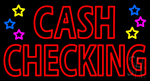Double Stroke Cash Checking LED Neon Sign