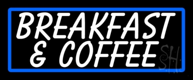 White Breakfast And Coffee LED Neon Sign