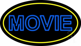 Blue Double Stroke Movie LED Neon Sign
