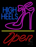 Blue High Heels Open With Line LED Neon Sign