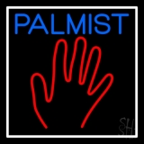 Blue Palmist Red Palm White Border LED Neon Sign