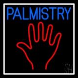 Blue Palmistry White Border LED Neon Sign