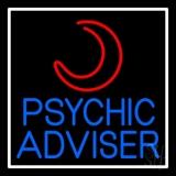 Blue Psychic Advisor With Logo LED Neon Sign
