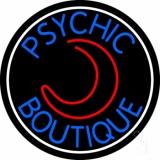 Blue Psychic Boutique White Border LED Neon Sign