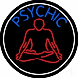 Blue Psychic Logo With Border LED Neon Sign