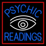 Blue Psychic Readings White Eye LED Neon Sign