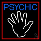 Blue Psychic Red Border LED Neon Sign