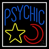Blue Psychic With Moon And Star LED Neon Sign
