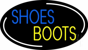 Blue Shoes Yellow Boots LED Neon Sign