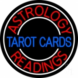 Blue Tarot Cards Red Astrology Readings LED Neon Sign