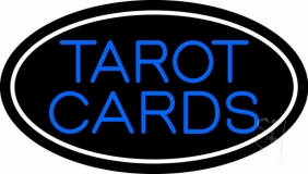 Blue Tarot Cards With Blue Border LED Neon Sign