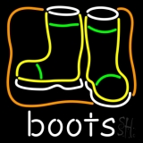 Boots With Logo LED Neon Sign