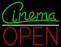Cinema Cursive Open LED Neon Sign