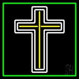 Cross With Border LED Neon Sign