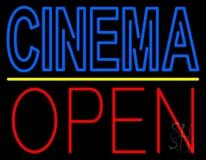 Double Stroke Blue Cinema Open LED Neon Sign