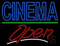 Double Stroke Cinema Open LED Neon Sign