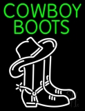 Green Cowboy Boots With Logo LED Neon Sign