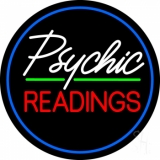 Green Psychic Readings With Border LED Neon Sign