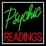 Green Psychic Red Readings With White Border LED Neon Sign