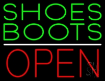 Green Shoes Boots Open LED Neon Sign