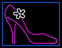 High Heels With Blue Border LED Neon Sign