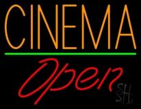 Orange Cinema Open LED Neon Sign