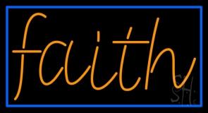 Orange Faith LED Neon Sign