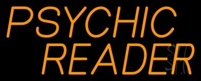 Orange Psychic Reader Neon Sign