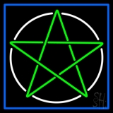 Pentacle With Border LED Neon Sign