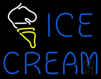Blue Ice Cream With Cone LED Neon Sign