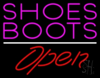 Pink Shoes Boots Open LED Neon Sign