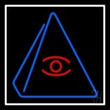 Psychic Eye Pyramid LED Neon Sign