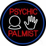 Psychic Palmist Blue Border LED Neon Sign