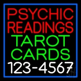 Psychic Readings Tarot Cards With Phone Number LED Neon Sign