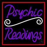 Purple Psychic Readings With Red Border LED Neon Sign