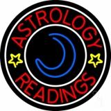 Red Astrology Readings White Border LED Neon Sign