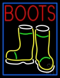 Red Boots With Logo LED Neon Sign